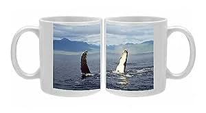 Photo Mug of Humpback Whale - flipper slapping by Prints Prints Prints