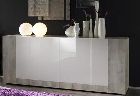 Buffet credenza mobile con ante bicolore amazon casa e cucina