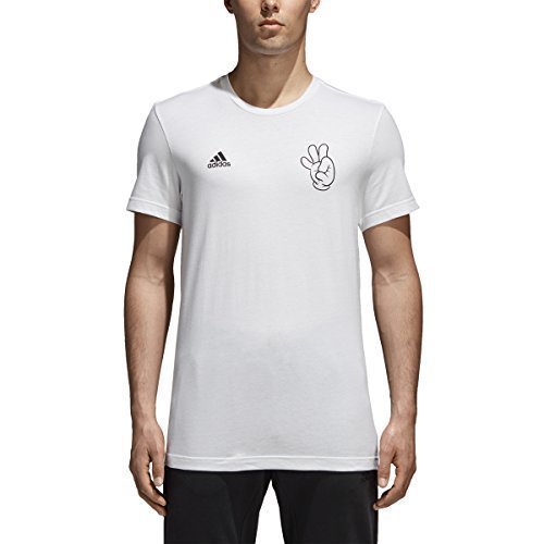 adidas World Cup Soccer Mascot Men's Tee, Large, White -