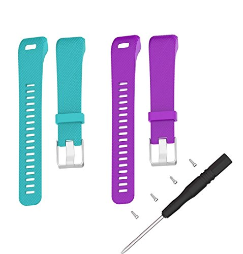 Vivosmart HR+ Bands,TenCloud Replacement Striped Sport Straps with Tool Kits for Garmin v