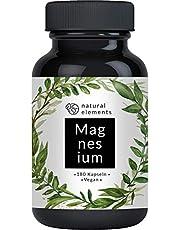 Premium Magnesiumcitrat - 2250mg davon 360mg elementares Magnesium pro Tagesdosis - 180 Kapseln - Laborgeprüft, ohne Magnesiumstearat, hochdosiert, vegan, hergestellt in Deutschland