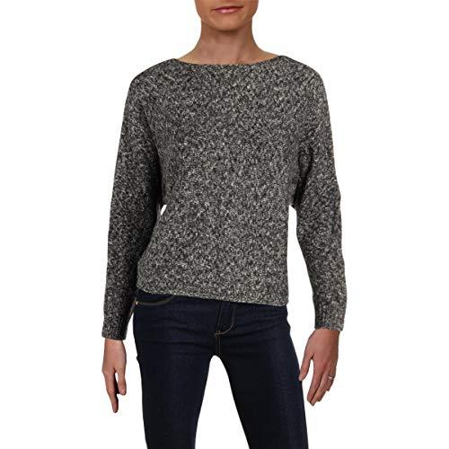 LAUREN RALPH LAUREN Womens Petites Dolman Boatneck Pullover Sweater Gray ()