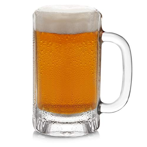Libbey Heidelberg Glass Beer Mugs, 16-ounce, Set of