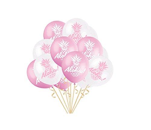 50pcs Hawaiian Tropical Party Balloons Latex Balloons Aloha Balloons for Hawaii Tropical Celebration Party Decorations,12 inch]()