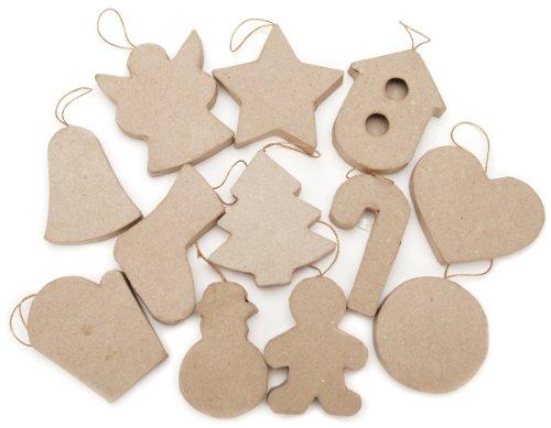 Papier Mache Christmas Ornaments - Daricepaper Mache Ornament - Assorted Christmas Figures
