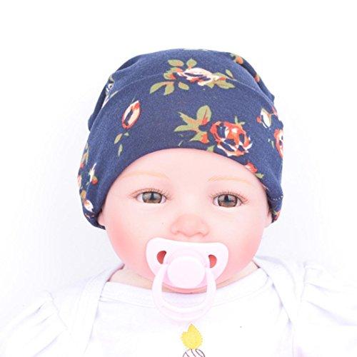 aimtoppy-newborn-beanie-baby-hats-with-flower-caps-navy