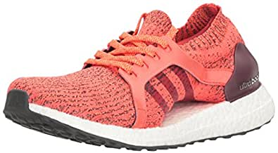 adidas Performance Women's Ultraboost X Running Shoe, Easy Coral/Light Maroon/Glow Orange, 10 M US