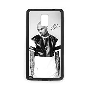 Onshop Custom Black and White Chris Brown Print Phone Case Laser Technology for Samsung Galaxy Note 4