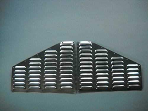RodLouvers Pair of Jeep XJ Cherokee Hood Aluminum Louvered Cooling Panels (Bolt-on) - Vents Hood Edge