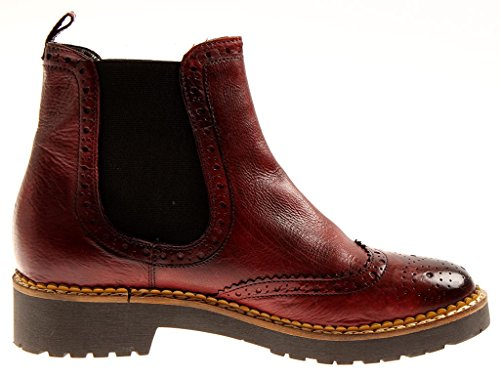 8330 Pelle Chelsea Scarpe Stivaletto In Isabelle Boots Donna Chelseaboots Bordeaux 8O4gxwq