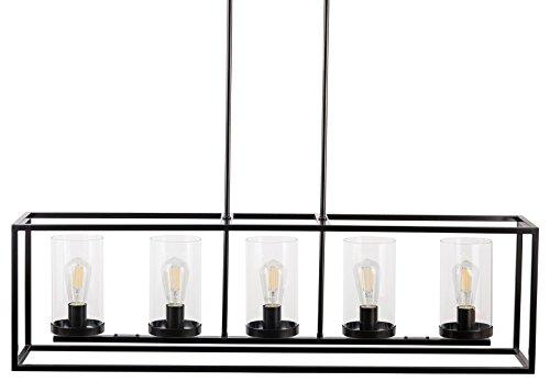 Black Rectangle Pendant Light in Florida - 3