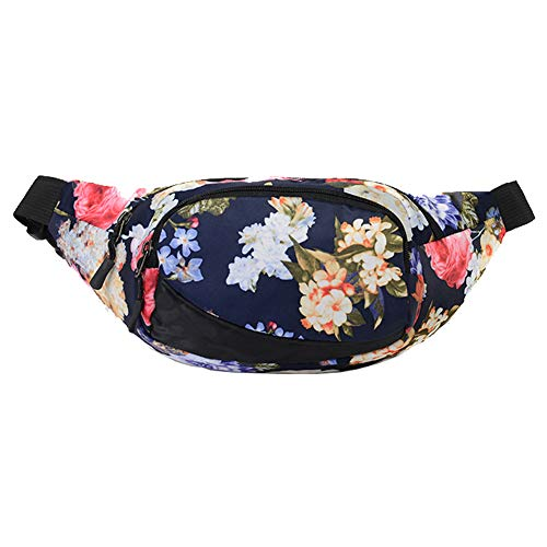 (Ausion Waist Bag, Multifunctional Chest Shoulder Fanny Pack with 3-Zipper Pockets Adjustable Belt Backpack Purse for Workout Vacation Hiking Running Travel,Fit iPhone Samsung LG Huawei Sony etc)