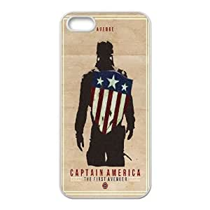 Captain America iPhone 5 5s Cell Phone Case White rqby
