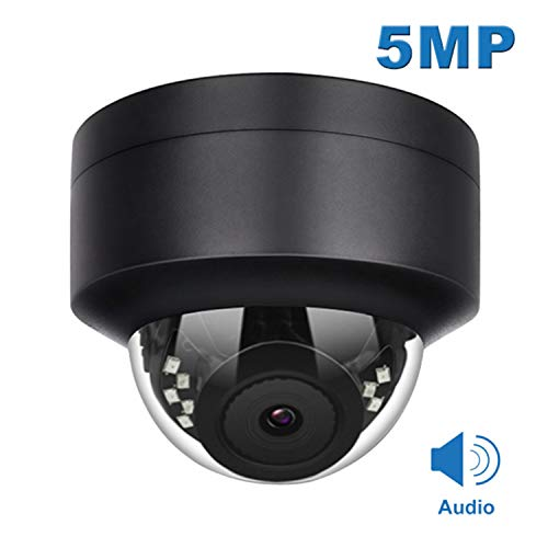 Anpviz 5MP PoE IP Dome Camera with Microphone(Compatible Hikvision),Audio, IP Security Camera Outdoor Night Vision 98ft Weatherproof IP66 Indoor Outdoor ONVIF Compaliant Wide Angle 2.8mm #IPC-D250B-S
