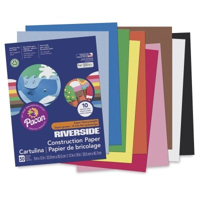 Riverside 3D Construction Paper, Blue-Green, 12