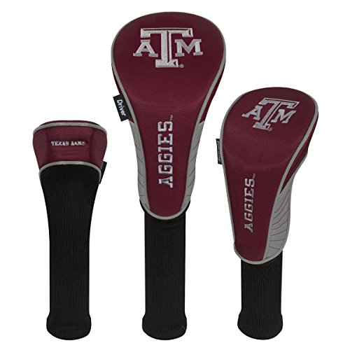 Team Effort Texas A&M Aggies Set of Three Headcovers - Texas A&m Aggies Golf