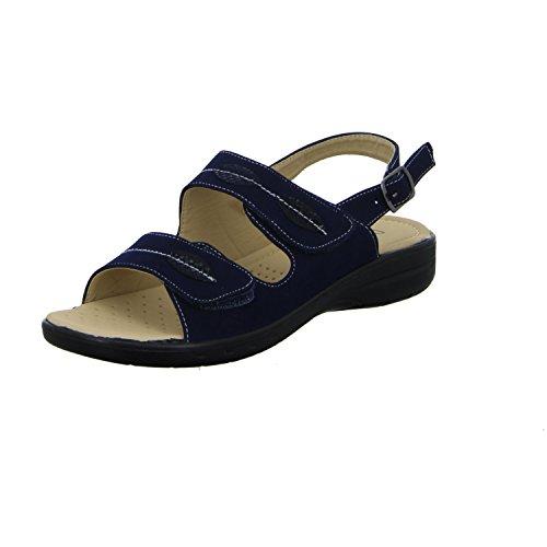 Donna Andrea XB091 Damen Komfort Sandalette Blau (Blau)