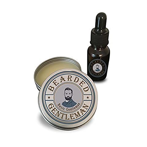 Beard Oil & Balm Combo by Bearded Gentleman: Unscented   All Natural Beard Conditioning Oil   30 ml   2 - 2 Oz Pipe Tobacco