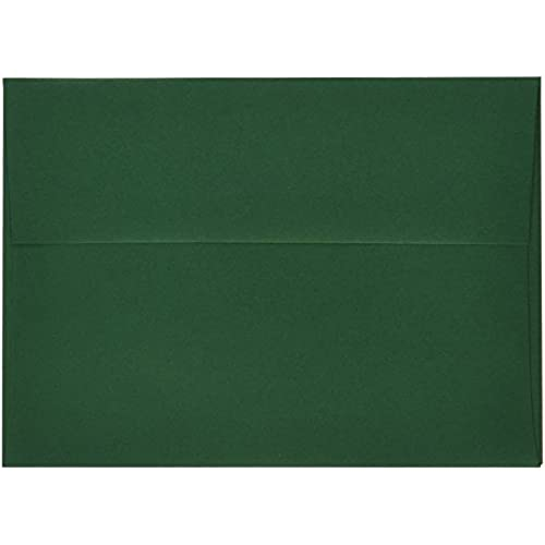 jam paper a7 invitation envelopes 5 1 4 x 7 1 4 dark green