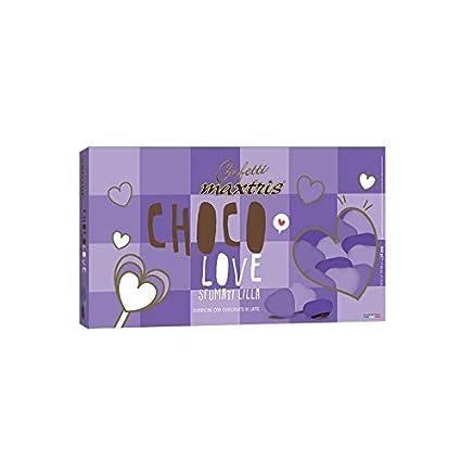 Confeti Corazones Corazón pequeño Brumoso en el chocolate en ...