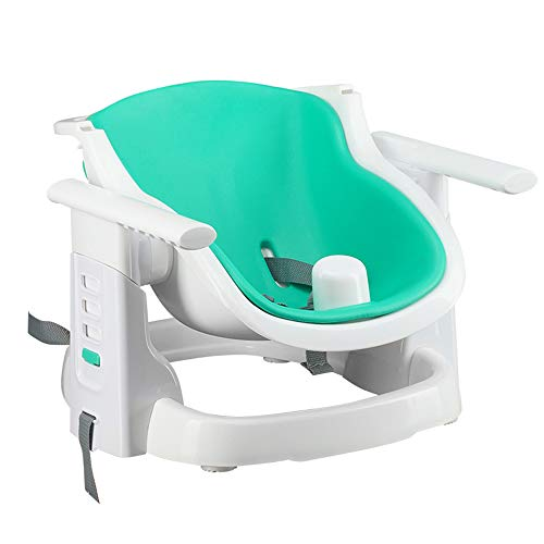 (HPCZZ Portable Children's Dining Chair Liner Seat Cushion Baby Eating Chair Multi-Function Folding Outdoor Baby Table Seat with Cushion)