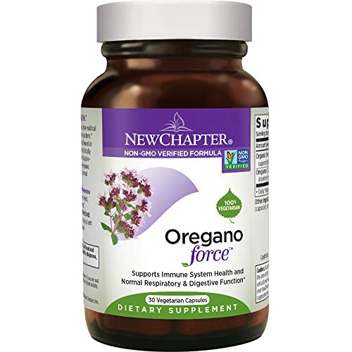 Cheap New Chapter Oregano Force for Immune Support with Supercritical Organic Oregano + Non-GMO Ingredients – 30 ct Vegetarian Capsules