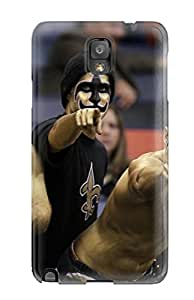 Galaxy Note 3 Hard Back With Bumper Silicone Gel Tpu Case Cover New Orleansaints
