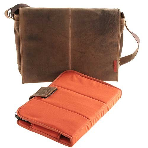 Laptoptasche / Messenger-Bag aus geöltem Buffalo-Leder - Extremely rugged Outback Wear Natural Buckskin b2YuGW