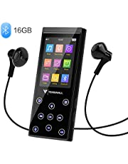 $30 » MP3 Player, 16GB MP3 Player with Bluetooth 4.2, Portable HiFi Lossless Sound MP3 Music Player with FM Radio Voice Recorder E-Book 2.4'' Screen, Expandable up to 128GB (Headphone, Armband Included)