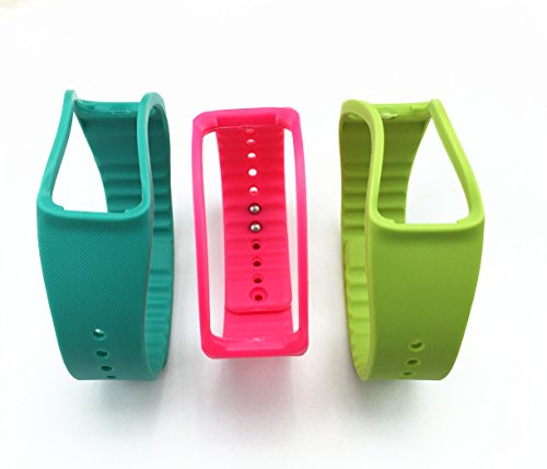 Replacement Band For Samsung Galaxy Gear Fit gear fit band (Teal+Pink+Green)