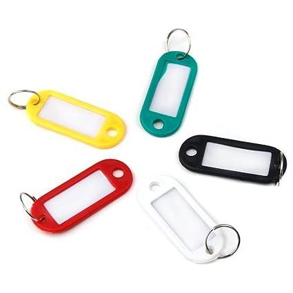 No: 1 10 pieza Llave etiqueta equipaje ID etiqueta aro ...