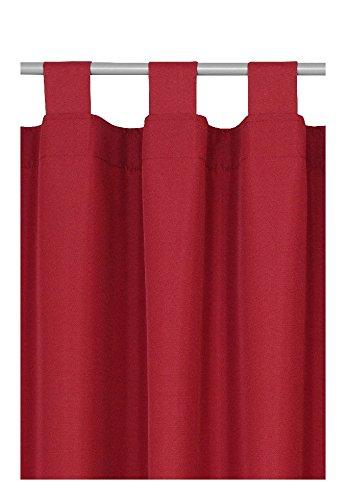 Schlaufen oder Ösenschal - Vorhang-Gardine Maßanfertigung im Unidesign Weiss 120cm x 320cm Schlaufenschal , Farbe und Größe wählbar B01N42EJSG Gardinenschals