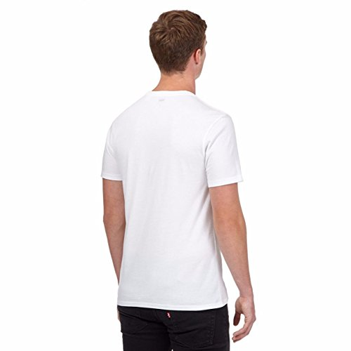 Levi's Herren Graphic Set-in Kragen Kurzarm T-Shirt (Small, White)