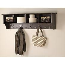 "Prepac 60"" Hanging Entryway Shelf, Espresso"