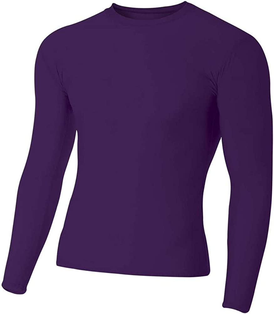 A4 Sportswear Youth Compression Long Sleeve Mosture Wicking Shirt (10 Colors/4 Youth Sizes)