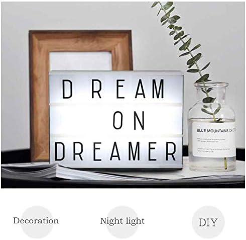 wekold caja lámpara LED RGB Light Box pizarra luminosa A 3 rayas decorativo de casa con letras cinematiche con 210 A4 letras y símbolos: Amazon.es: Iluminación