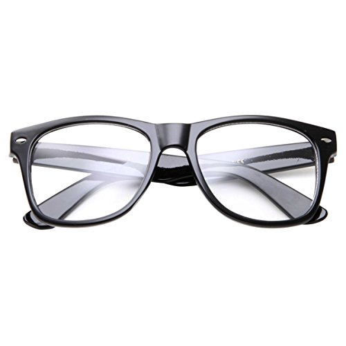 Childrens Large Nerd Glasses Kids Teen Clear Lens Costume (Age - Big Lens Glasses