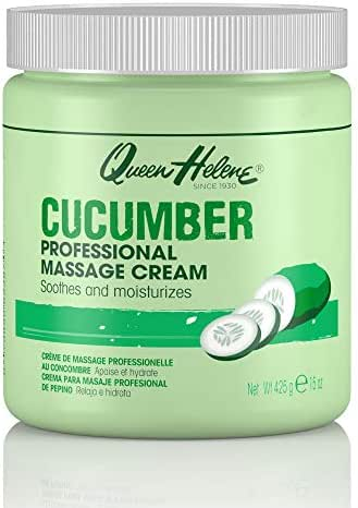 Queen Helene Professional Massage Cream, Cucumber, 15 Ounce [Packaging May Vary]