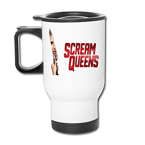 TRAVE Scream Queens Knife Logo White Coffee Or
