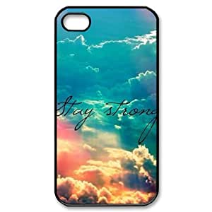 Customized Dual-Protective Case for Iphone 4,4S, Stay Strong Cover Case - HL-R657062
