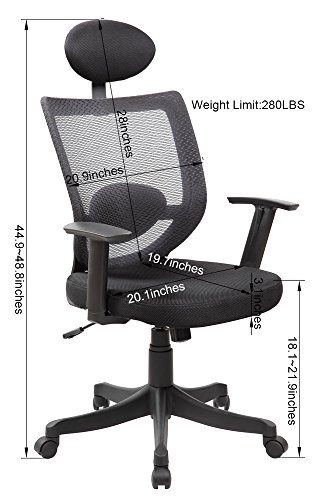 United Chair UOC-8032-BK High Back Mesh Executive & Managerial Office Chair