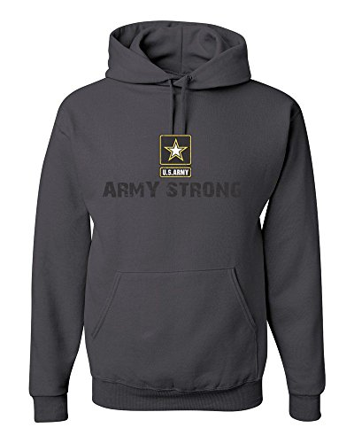 185 Hoodie Army Strong Military Star Charcoal S (Army Star Sweatshirt)