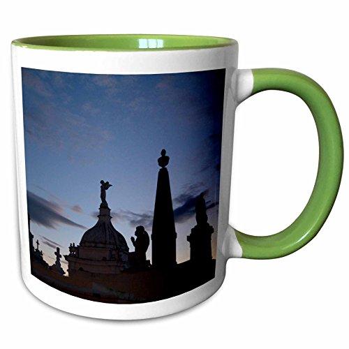 3dRose Danita Delimont - Graveyards - Nicaragua Granada. Crosses, angels, graveyard - SA14 JME0059 - John and Lisa Merrill - 11oz Two-Tone Green Mug (mug_86868_7) ()