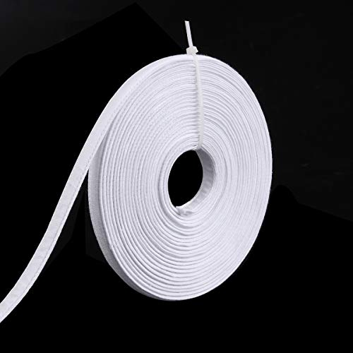 Teemico 15 Yards Polyester Boning for Sewing - Sew-Through Low Density Boning for Corsets, Nursing Caps, Bridal Gowns, (12mm Wide, White) (White, 12mm)