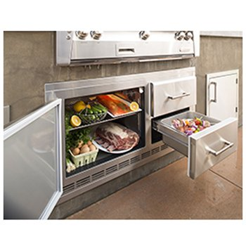 Alfresco ARXE-42 Built In Under Grill Refrigerator in Stainless