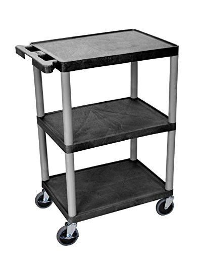 Utility cart 3 shelves structural foam plastic office for Easy entry cart plans