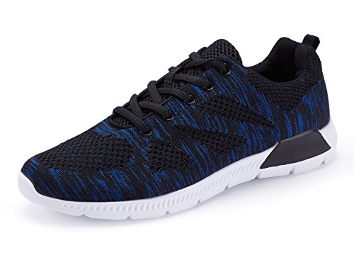 Voxge Mens Athletischer Sport Trainer Outdoor Fashion Sneakers Freizeitschuhe Schwarz