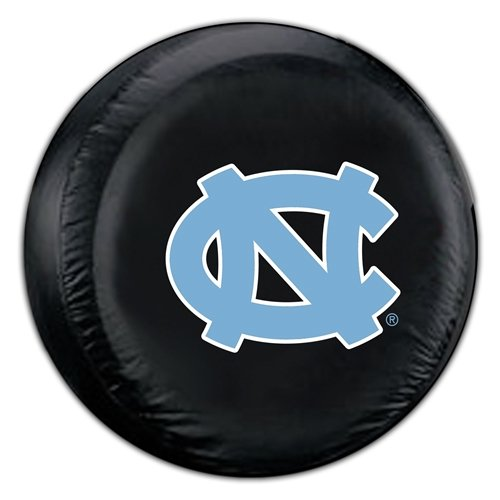 Fremont Die NCAA North Carolina Black Spare Tire Cover, One Size, Multicolor