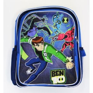 Ben 10 Small Backpack Blue Cartoon Boys New School Bag Book 616625 ()