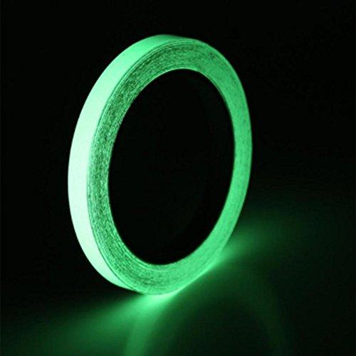 Tape - 3m Reflective Glow Tape Self Adhesive Sticker Removable Luminous Fluorescent Glowing Dark Striking - Que Iron Drape Strip Jeans Variety Washi Shine Cord Glue